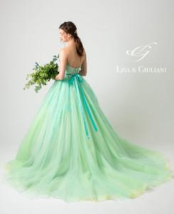リサ アンド ジュリアーニ ウェディングドレス イエローダイヤ