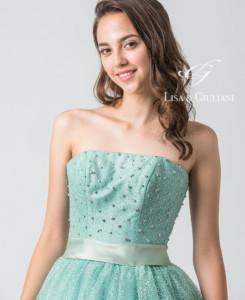 リサ アンド ジュリアーニ ウェディングドレス オリーブシェル