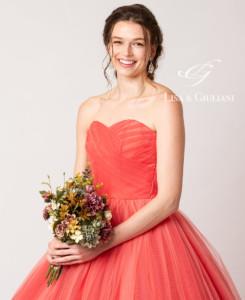 リサ アンド ジュリアーニ ウェディングドレス オレンジレッドシュガー
