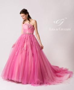 リサ アンド ジュリアーニ ウェディングドレス ピンクダイヤ