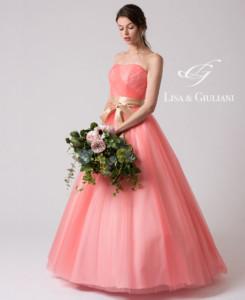 リサ アンド ジュリアーニ ウェディングドレス ベビーピンク
