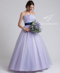 リサ アンド ジュリアーニ ウェディングドレス ライラック
