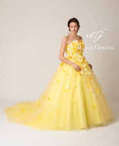 リサ アンド ジュリアーニ ウェディングドレス レモンフラワー