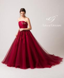 リサ アンド ジュリアーニ ウェディングドレス ワインダイヤ