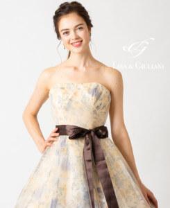 リサ アンド ジュリアーニ ウェディングドレス イエローリーフ