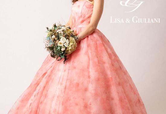 リサ アンド ジュリアーニ ウェディングドレス ピンクルージュ